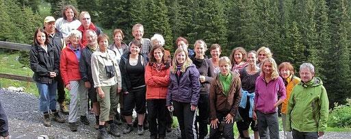 Teilnehmer an der Montafon-Exkursion. Foto: Claudia Zieboll