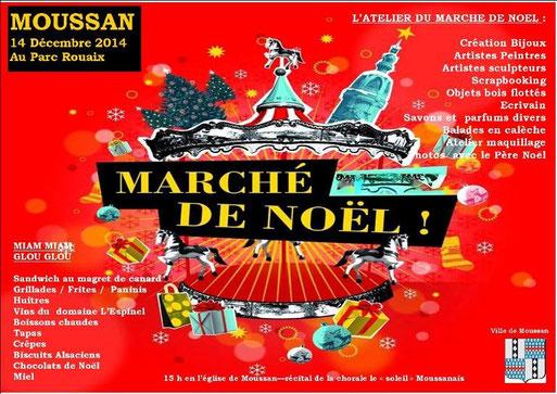 affiche marché de noël Moussan