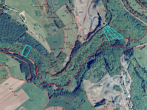 Überblick über die NABU-Waldflächen im Hundsbachtal