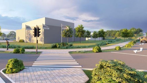Künftige Bohmann-Ansiedlung an der A 29, Animation: Jabro Planungsgesellschaft