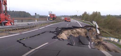 Die Vollsperrung der A 20 bei Tribsees (Mecklenburg): In der Wesermarsch könnte ähnliches drohen!