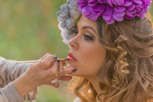 Maquillando Sesion en Sevilla