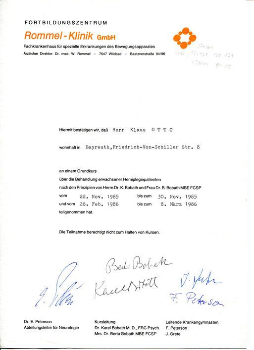 Bobath-Erwachsene-Zertifikat