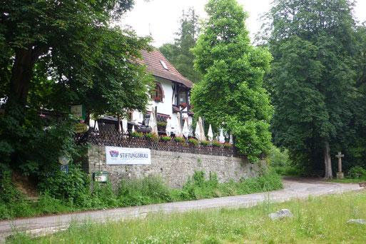 Waldgaststätte Rausch am Rheinsteig - hier endet der Wiesweg.