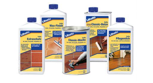 Produktreihe Lithofin COTTO für Cottoböden