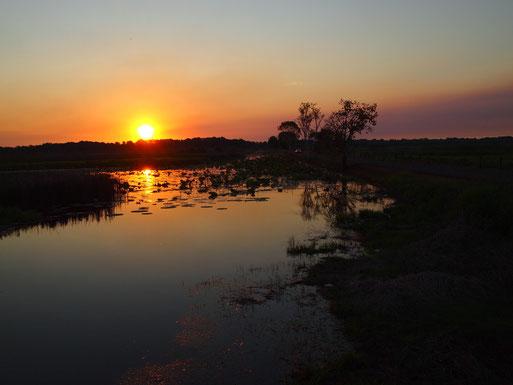印象的だった、フォグ・ダムの夕暮れ