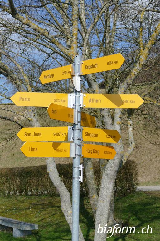 biaform. Wegweiser, nur wer sein Ziel kennt, findet den Weg, Schweizer Blog