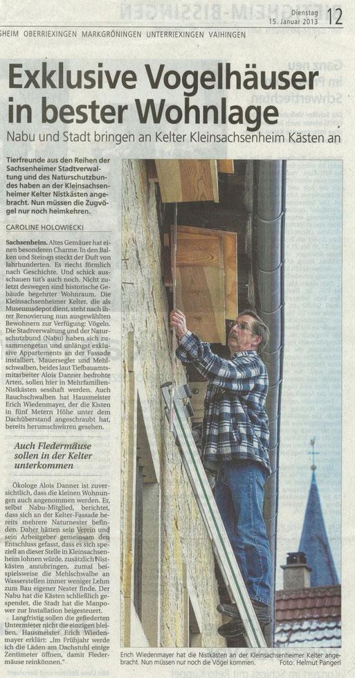 Bietigheimer-Zeitung vom 15.01.2013