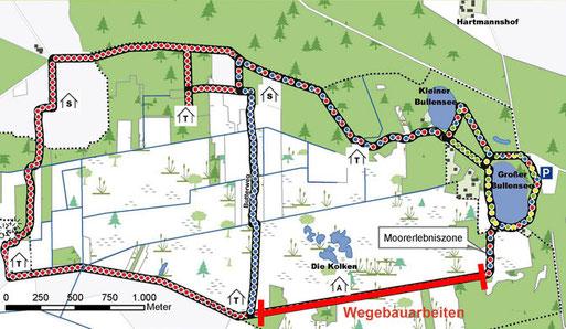 Dieser Abschnitt des Wanderweges ist ab dem 14.03.2013 vorraussichtlich bis zum 29.03.2013 aufgrund von Wegebauarbeiten gesperrt. Vielen Dank für Ihr Verständnis.
