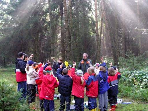 Unterricht im Wald mit Förster Rainer Schild