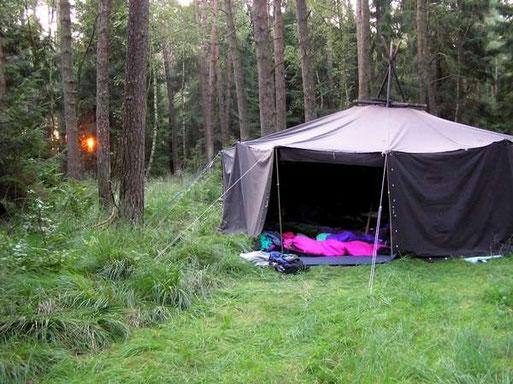 Die Nacht im Wald mit ihren Geräuschen war ein besonderes Erlebnis