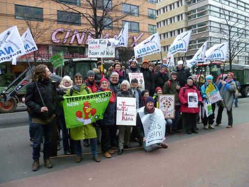 Demonstranten aus Rotenburg, Scheeßel und Bucholz in Berlin