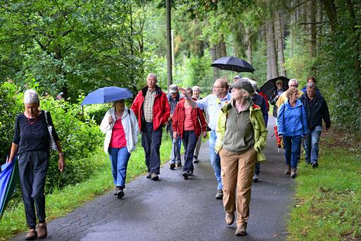 Hans Werner Rauer führt durch die Wälder auf dem Leuscheid (Bild: Stefan Körber 08/2016)
