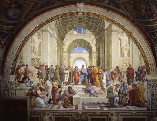 Афинская школа  - самые известные картины Рафаэля