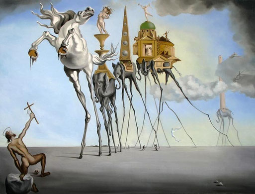 Искушение святого Антония - картина Сальвадора Дали