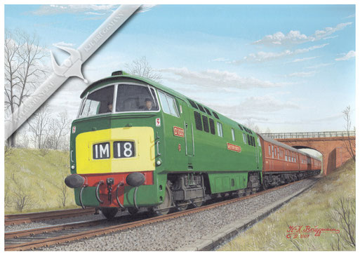 """Diesellok BR D 1022 """"Western Sentinel"""" mit London-Birmingham Express"""