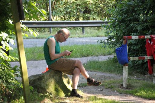 Streckenposten Klaus Stamereilers hatte viel zu tun! :)