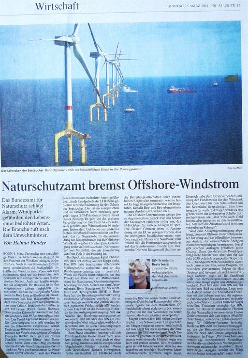 Weser Kurier vom 07.März 2011-zum Vergrößern auf Artikel klicken