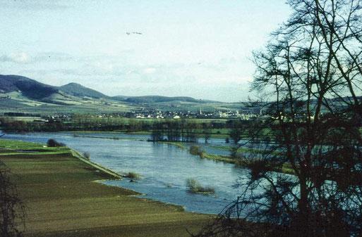 Die Projektgebiete bei Hochwasser