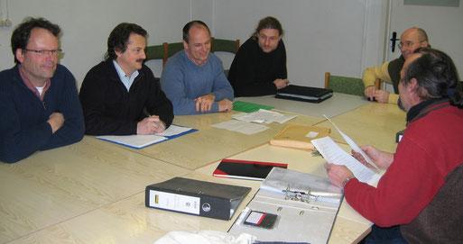 Auf der Vorstandssitzung am 14.12.2009; Foto: Michael Wetzel