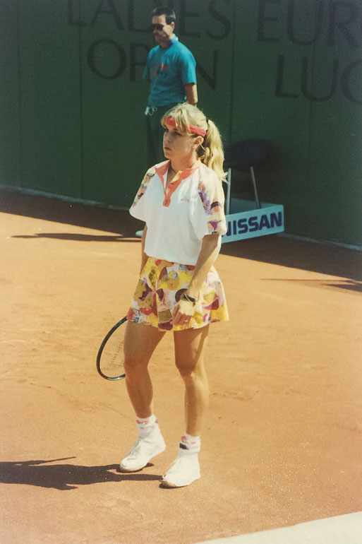 Meredith McGrath, won 25 WTA Double Titels, Picture taken at Ladies Open Lucerne 1993