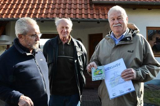 20. März 2013: Dieter Werner, Manfred Henkel und Willi Eberwein (Foto:  © Peter Vesely)