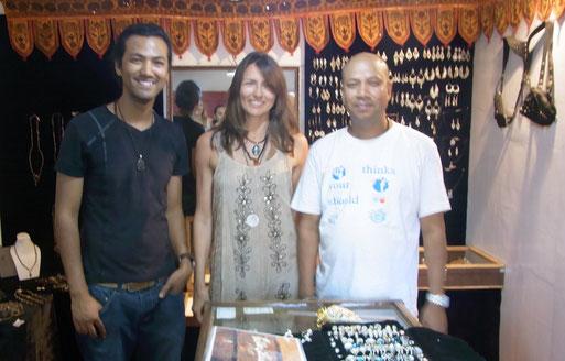 Bikram, Krishna (Bikrams Vater) und ich in Goa