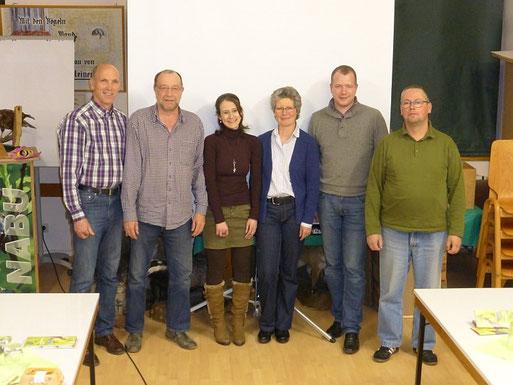 Der neue Vorstand der NABU-Gruppe Montabaur und Umgebung. V.l.n.r.: Bernhard Kloft, Dr. Thilo Papp, Christine Dommermuth, Gabriele Neumann, Roger Best, Johannes Zühlke