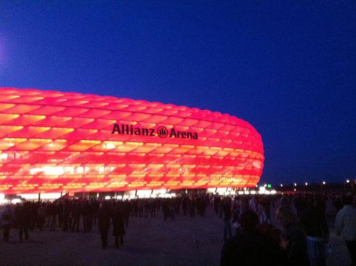 UEFA Champions League Achtelfinale, FC Bayern München- Arsenal London 1:1, Allianz Arena München, 11.03.2014, Teilnehmer: Maik H., Holger H., Christian H., Rene P.
