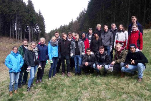 """Bufdi""-Team im Heistertbach-Tal bei Kalterherberg (Foto: Ralf Evertz))"