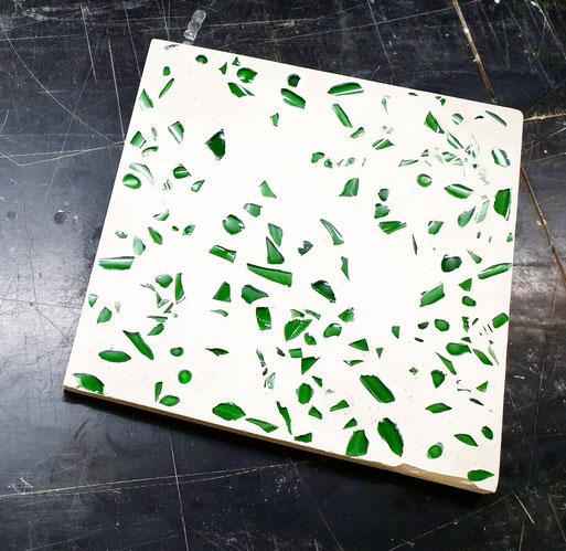 Terrazzo aus Glas selber machen