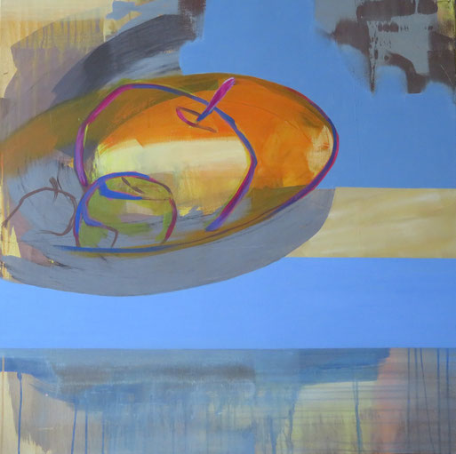 Stilles Leben 11, Acryl auf Leinwand, 100/100 cm, 2018