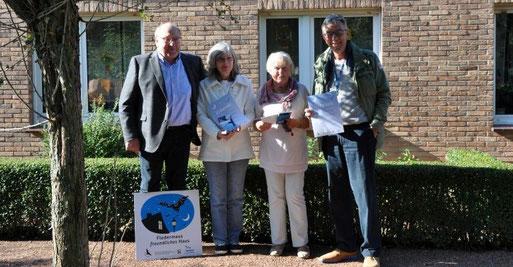 V.l. Bürgermeister Manfred Lommetz, Ursula Buttgereit, Annerose Koch und Rolf Brandt
