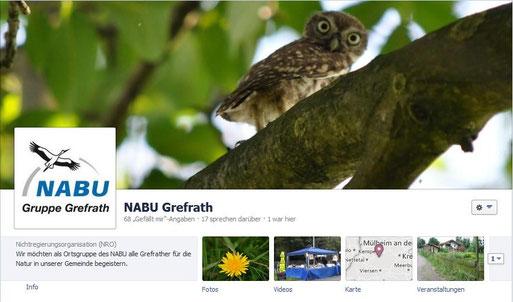 Facebookseite von NABU Grefrath