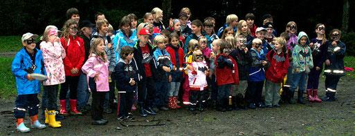 Die Kindergruppen des NABU Oberberg auf der Batnight 2010