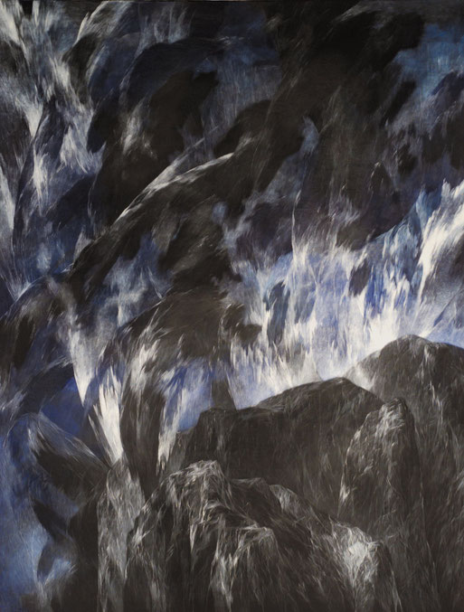 Josef Taucher, Night 24, 2003, Oil/Molino, 195 x 150 cm © Josef Taucher