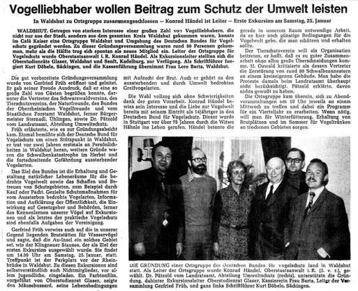 """So berichtete damals die Heimatzeitung """"Alb Bote"""" ------------------------------------------ Zum Vergrößern auf Bild klicken!"""