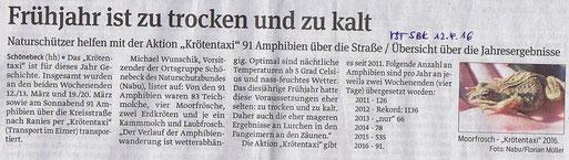 Volksstimme Schönebeck vom 12. April 2016 (Heike Heinrich)
