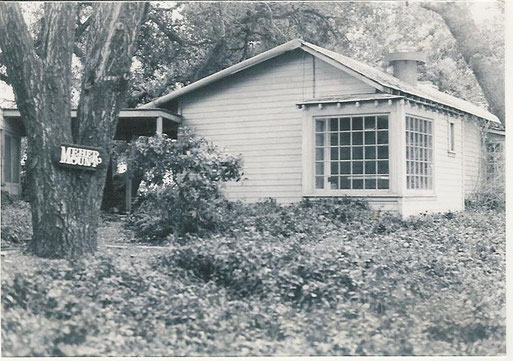 """There were two main houses at Meher Mount when it was purchased in 1946. One was called the """"guesthouse"""" and was where Avatar Meher Baba greeted guests during His August 2, 1956 visit. (Archive photo.)"""