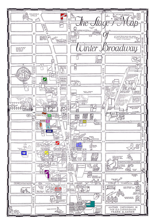 Map of Winter Broadway 1933. Click on map to enlarge.
