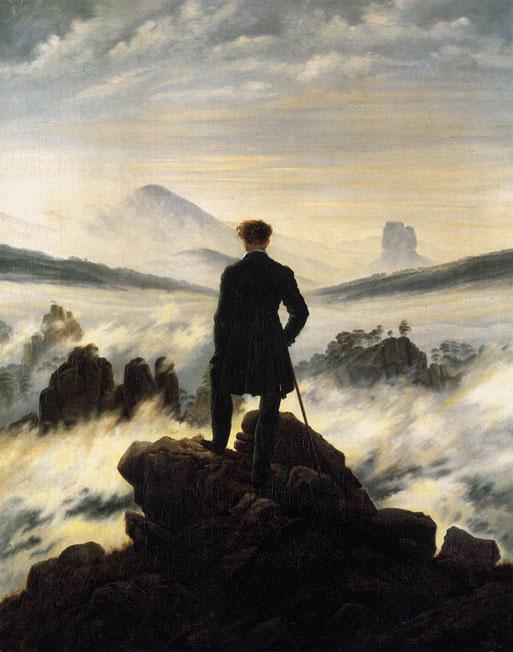 """Caspar David Friedrich, """"Viandante sul mare di nebbia"""""""