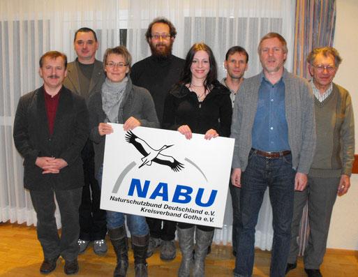 Gemeinsam Natur beobachten und schützen: v.l.n.r. R. Bellstedt, T. Sauer, C. Schuster, A. Loth, S. Löw, D. Mattern, T. Oppel, R. Tittel