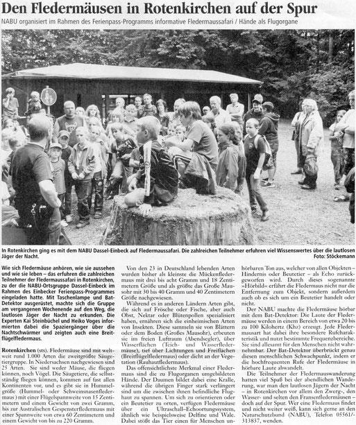 Einbecker Morgenpost, 08.08.2011