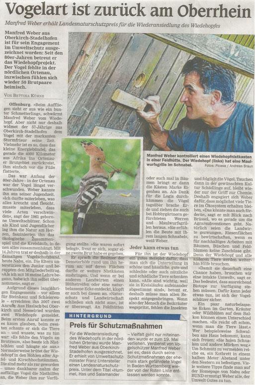 Pressetext Mittelbadische Presse vom Montag, 08.04.2019