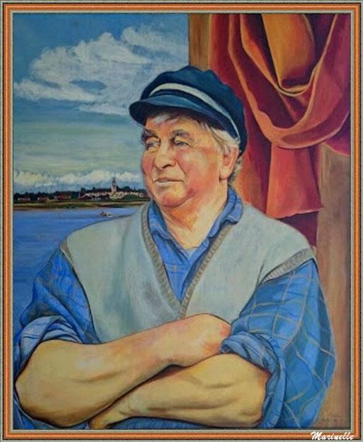 """Michel Dumora dit """"Tiampille"""" - Tableau d'une artiste locale, Esilda Lajoinie (avec l'aimable autorisation du propriétaire de """"La Cabane 301"""" où est exposé ce tableau)"""