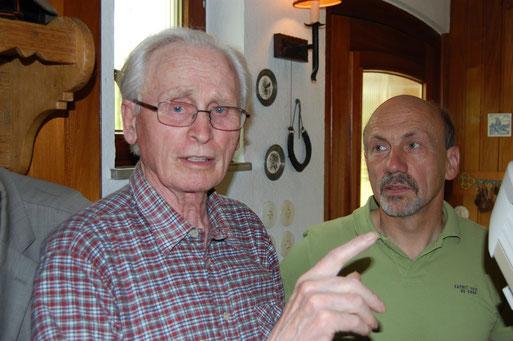 Wichtig war Willi Purrnhagen als Vorständler der Ornithologischen Arbeitsgemeinschaft Oldenburg (OAO) im NABU,  sein Vermächtnis zu Lebzeiten aktiv zu regeln.  Foto: Ludger Frye 2008