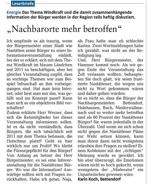 Rhein-Lahn-Zeitung v. 31.03.2015