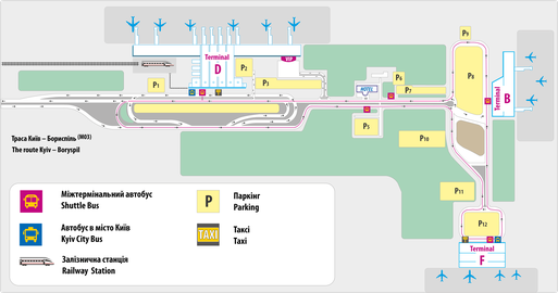 Map of Kyiv Boryspil International Airport