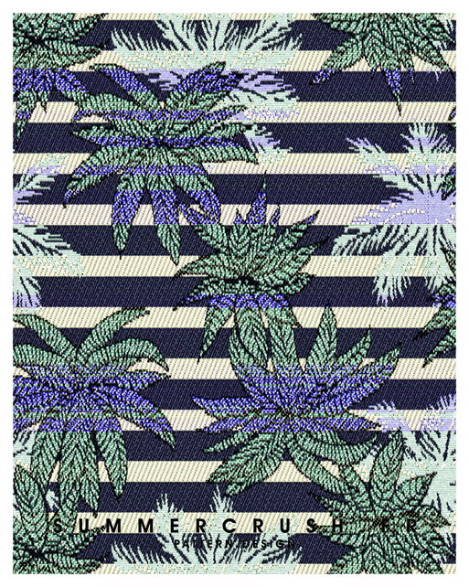 Palm Stripes jacquard • Summer 2015