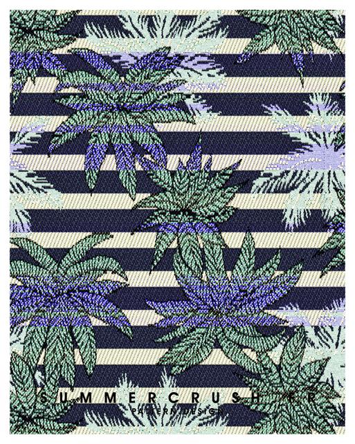 Palm Stripes jacquard • Summer 2015